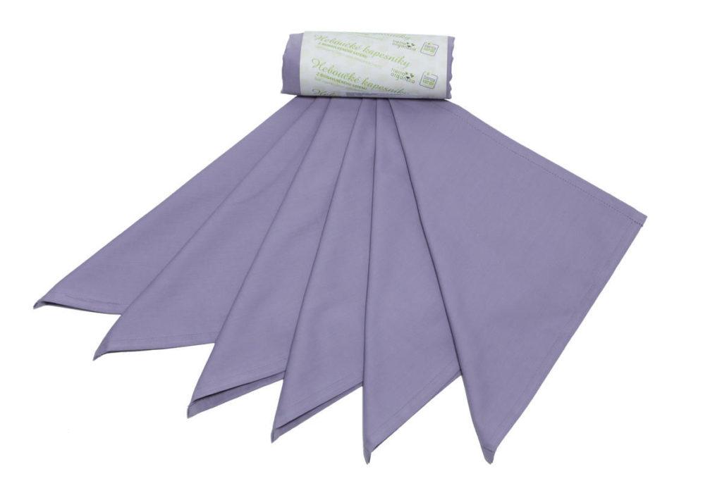 Kapesníky dámské - 100% BIO bavlna, šeřík