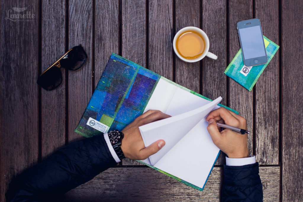 Stylový zápisník FOREWEAR - modrý