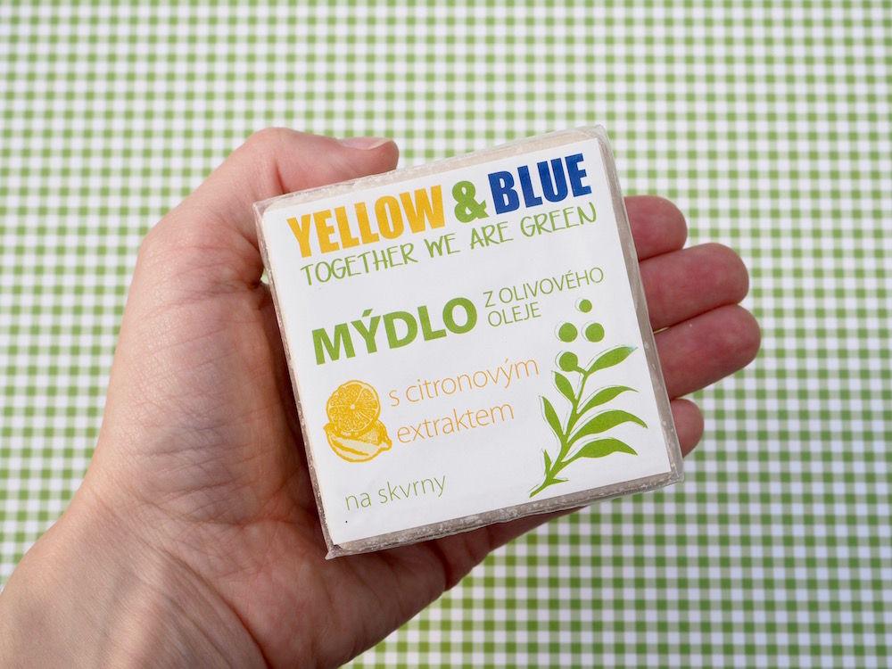 Olivové mýdlo s citronovým extraktem na skvrny