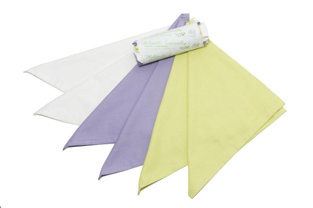 Kapesníky pánské – 100% BIO bavlna, mix barev