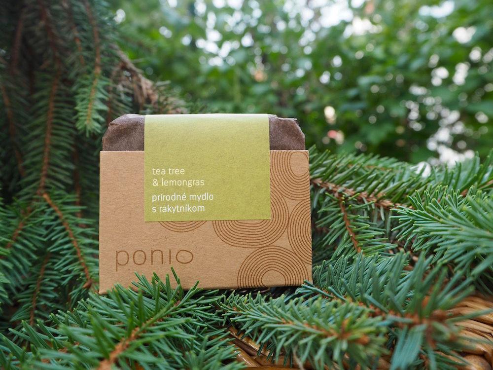 Mýdlo s rakytníkem - tea tree & lemongras